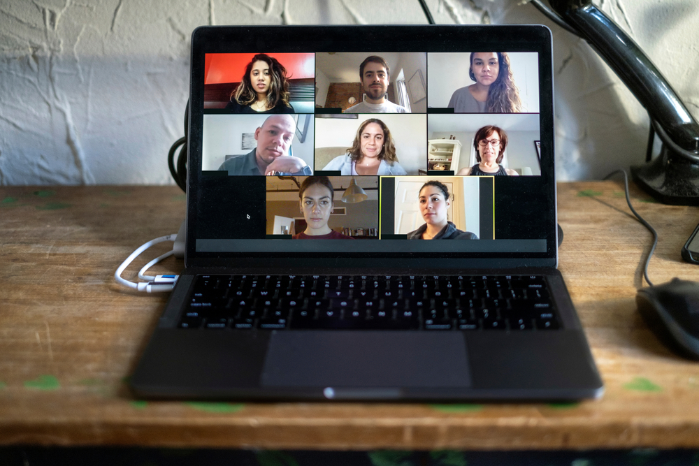 several people on a video call